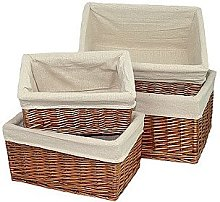 Red Hamper Double Steamed Lined Storage Wicker