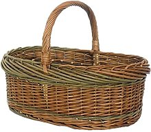 Red Hamper Green Willow Norfolk Shopping Basket,