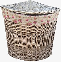 Red Hamper Large Antique Wash Corner Linen Basket