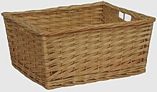 Red Hamper Large Kitchen Storage Wicker Basket,