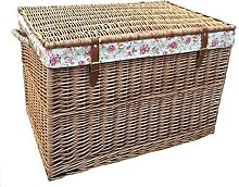 Red Hamper Large Light Steamed Storage Basket with