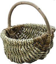 Red Hamper Large Millie Sea Grass Shopping Basket,