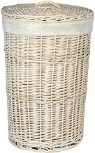 Red Hamper Large Round Wash Laundry Basket with a