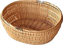 Red Hamper Oval Market Shopping Basket, Wicker,