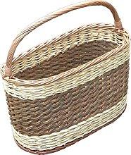 Red Hamper Picnic Shopping Basket, Wicker, Brown,