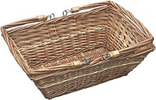 Red Hamper Rectangular Market Shopping Basket,