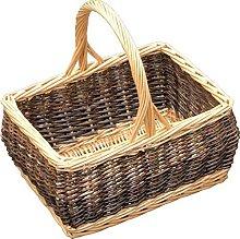 Red Hamper Rustic Rectangular Shopping Basket,
