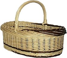 Red Hamper Rustic Willow Norfolk Shopping Basket,