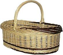 Red Hamper Rustic Willow Norfolk Shopping Basket,