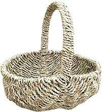 Red Hamper Seagrass Basket Shopping Baske