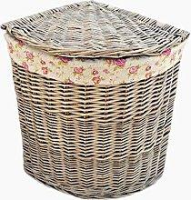 Red Hamper Small Antique Wash Corner Linen Basket