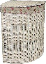 Red Hamper Small Corner White Wash Laundry Basket
