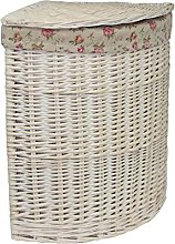 Red Hamper Small Corner White Wash Laundry Basket