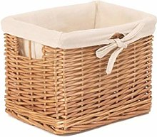Red Hamper Small Deep Storage Wicker Basket with