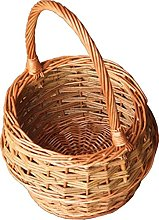 Red Hamper Small Rustic Egg Shopping Basket,