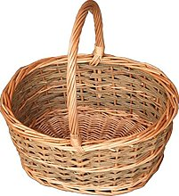 Red Hamper Small Rustic Oval Shopping Basket,