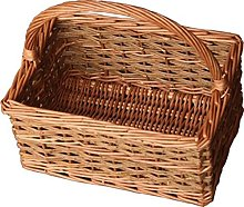 Red Hamper Small Rustic Rectangular Shopping