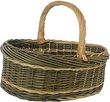 Red Hamper White Willow Norfolk Shopping Basket,