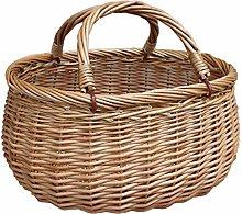 Red Hamper Wicker Basket Light Steamed Swing