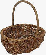 Red Hamper Wicker Shopping Basket, Brown, 12 x 29