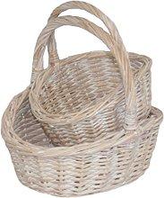 Red Hamper Wicker Shopping Basket, Brown, 17 x 55