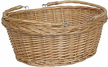 Red Hamper Wicker Shopping Basket, Brown, One Size