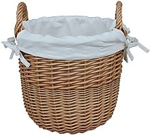Red Hamper Wicker Willow Small Wicker Linen Basket