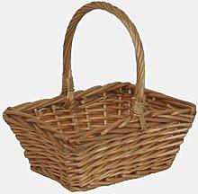 Red Hamper Willow Wicker Shopping Basket Mini