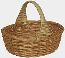 Red Hamper Willow Wicker Shopping Basket Mini