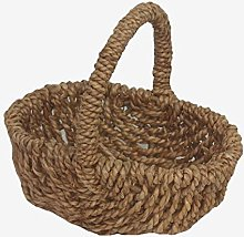 Red Hamper Willow Wicker Shopping Basket Small