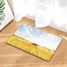 Red Horse. Door Mat Front Door Carpet Non-Slip