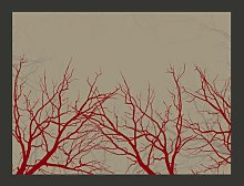 Red-Hot Branches 193cm x 250cm Wallpaper East