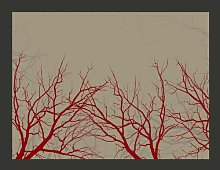 Red-Hot Branches 231cm x 300cm Wallpaper East