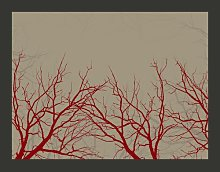 Red-Hot Branches 270cm x 350cm Wallpaper East