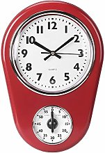 Red Kitchen 50's Vintage Clock, Vintage Wall