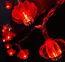 Red Lanterns String Lights,Led Fairy String Lights
