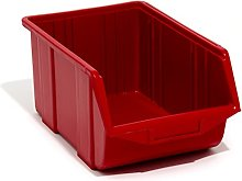 Red large ECO-Box storage bin 35 x 22 x 16.5 cm,