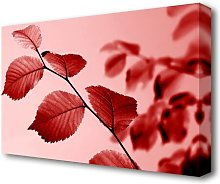 Red Leaves Flowers Canvas Print Wall Art East