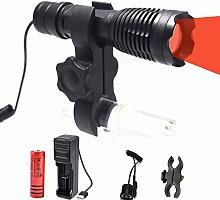 Red LED Torch, Zoomable 350 Lumens Coyote Hog