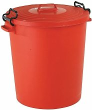 Red Light Duty Dustbin and Lid 110Ltr - SBY24222