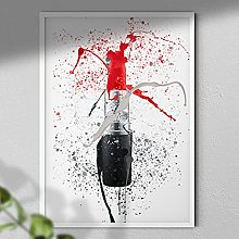 Red Lipstick - Wall Art Print - A3 Print Only