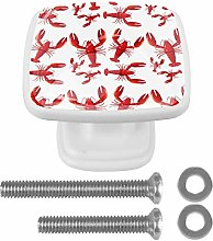 Red Lobster Pattern 3D Printed Drawer Knobs Pull