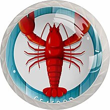 Red Lobster Seafood White Drawer Handles Furniture