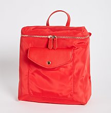 Red Nylon Small Backpack - One Size