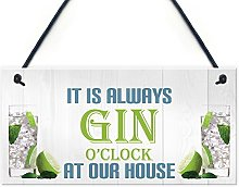 RED OCEAN Always Gin O'clock At Our House