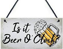 RED OCEAN Beer Signs Beer O'Clock Hanging