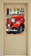 Red Old-timer in Italy Wall Sticker East Urban Home