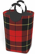 Red Plaid 22.7 Inches Tall Large Storage
