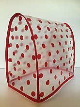 Red Polka Clear PVC Mixer Cover 4.8L Stand Mixer