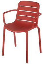 Red Professional-Quality Garden Armchair